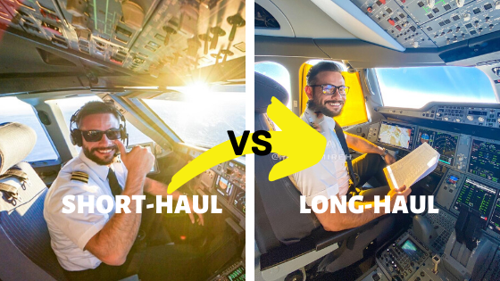 Short-haul flights vs long-haul flights